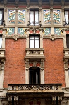 Modern Style in Italy - Architecture - Lombardia - Milano , Casa Dugnani Italy Architecture, Art Nouveau Architecture, Milan, All About Italy, Vienna Secession, Belle Epoque, Art Deco, Palermo, Houses