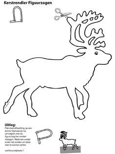 Rendier figuurzagen (8 t/m 13 jaar). Thema: Kerst.