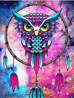 Sweet Dreams Owl Diamond Painting Kit makes beautiful diamond art for animal lovers! This DIY diamond painting kit has everything you need to create a Mandala Art, Mandala Nature, Image Mandala, Galaxy Wallpaper, Wallpaper Backgrounds, Dream Catcher Wallpaper Iphone, Wallpaper Ideas, Owl Wallpaper Iphone, Iphone Backgrounds