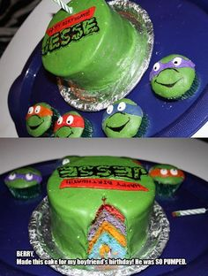 Cupcakes for austin maybe i can make! TMNT cake. For inspiration