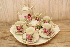 "Vintage Child's Tea Set~ One of my favorite ""Little Girl's Tea Party"" sets."