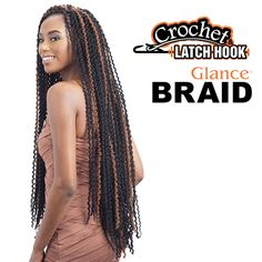 GLANCE SYNTHETIC BRAID LONG FINE TWIST OUT 32