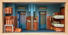 Within spaces not much larger than a piece of paper, Barcelona artistMar Cerdà creates painstakingly intricate dioramas made solely of watercolor painted paper. If you're a fan of Wes Anderson, you'll especially appreciatethe three scenes she's replicated from some of my favorite Anderson