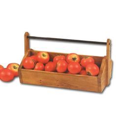 Rustic Wood Tool Box with Handle