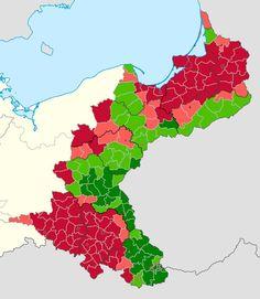 Eastern Germany Ethnic Map by District in 1910 by Lehnaru on DeviantArt
