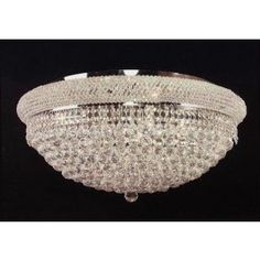 Elegant 12 lights crystal chandeliers flush mount chandelier ceiling light