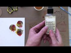 Tutorial on twinkling & distress ink painting Distress Ink Techniques, Pearl Ex, Distressed Painting, Alcohol Inks, Copic Markers, Ink Painting, Tim Holtz, Craft Videos, Fun Learning