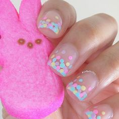 "Instagram media by gabbysnailart - Happy Easter!✝ These nails were inspired by @nailstorming I used:Aurora-""Pu' Uloa"", Essie-""Mint Candy Apple"", I-Scream-Nails-""Big Marshmallow"", Essie-""Mint Candy Apple""(old version) and LVX-""Lemon Drop"" and a bobby pin"