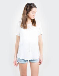 Camisa m3-4 pliegues : CHICA Blusas & Camisas