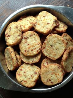Bacon Parmesan Shortbread Crackers