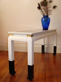 Vintage Asian Console Black White Ming Style Sofa Table Hallway Console by studio180, SOLD