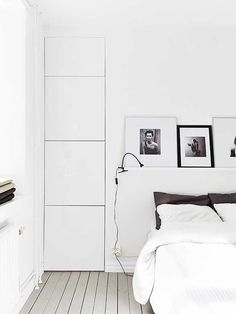 White washed bedroom