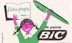 Souvenirs d'école: Buvards Bic