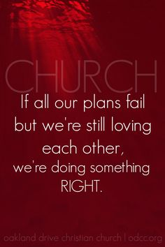 Church: we can make all the plans, but if we forget the love we're failing. Here's a link to the whole sermon: https://soundcloud.com/odcc/921-lhare-in-jesus
