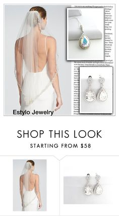 """""""White Wedding (Estylo Jewelry)"""" by shambala-379 ❤ liked on Polyvore featuring Brides & Hairpins"""
