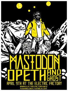 Mastodon, Opeth & Ghost gig poster.