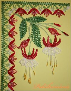 V. Cepáková - Fuchsie za fuchsie Bobbin Lacemaking, Lace Heart, Point Lace, Lace Jewelry, Sewing Art, Lace Making, Needle And Thread, Lace Detail, Hand Embroidery