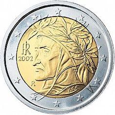 2 Euro From Year 2002 Italy Euros