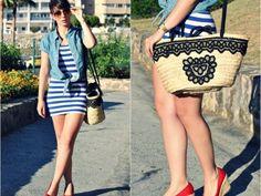 lovelystyle Outfit  vestido Navy cuñas marinero capazo look  Verano 2012. Cómo vestirse y combinar según lovelystyle el 21-6-2012