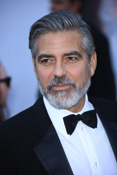 Style Icon 5: Mr George Clooney looks every part the distinguished older gent with a well-trimmed beard.