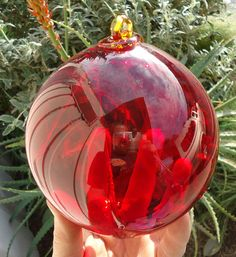 Red glass witch ball