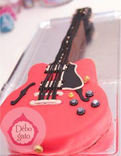 Gâteaux personnalisés, Paris, Passion, Gourmandise, Anniversaire, Gâteau d'anniversaire, Cake design Paris, Birthday cake, Guitare, Rock, Musique