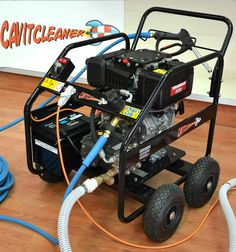 Hot Road machine - Underwater cavitation cleaning machine, driven by a powerful and reliable Yanmar 8 kw diesel engine