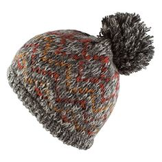 a91d90521e37b Morehats Bohemian Pattern Knit Pom Pom Handmade Beanie Winter Ski Warm Hat  Grey    Be sure to check out this awesome product.