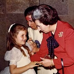queensofias:  Infanta Elena with her aunt Infanta Margarita and her grandmother the Countess of Barcelona, at Elena's First Communion, May 30, 1972