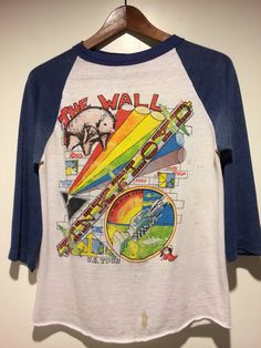 Pink Floyd The Wall vintage t-shirt at 988 Valencia Street Sa Francisco CA 94110.