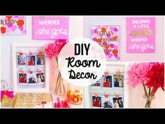 DIY Room Decor! 10 DIY Room Decorating Ideas for Teenagers (DIY Wall Decor, Pillows, etc.) - YouTube