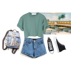 this summer by junk-food on Polyvore featuring mode, Converse and Free People
