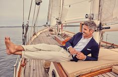 Set sail on classic American style. Men's Sailing, Sailing Outfit, Boating Outfit, Sailing Style, Boat Wedding, Yacht Wedding, Wedding Ideas, Segel Outfit, Brooks Brothers