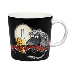 Arabia's Moomin mug, Ancestor, black