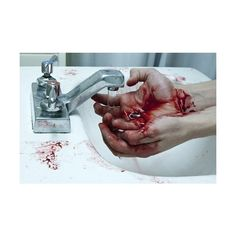 We Heart It ❤ liked on Polyvore featuring backgrounds, blood, people, pictures and red