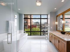 West Village apartment with stunning views of the Hudson River.