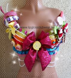 Willy Wonka Candyland Inspired Bra top for Special by LipglossWear