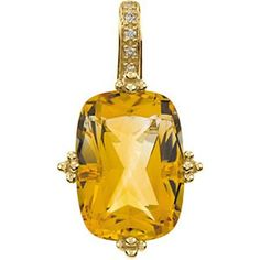 Citrine & Diamond Pendant - 14k Yellow Gold - Cushion Citrine & Diamond Pendant - 14k Yellow Gold - by GEM. $304.99. Residents of CA, DC, MA, MD, NJ, NY - STUN GUNS, AMMO/MAGAZINES, AIR/BB GUNS and RIFLES are prohibited shipping to your state. Also note that picture may wrongfully represent. Please read title and description thoroughly.. Shipping Weight: 0.12 lbs. This product may be prohibited inbound shipment to your destination.. Please refer to SKU# ATR1786...