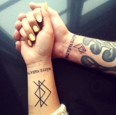Lovetattoo, Tattoo, Love, coupletattoo, rune, tecken, Lars Winnerbäck, Swedish, Sverige, svenska