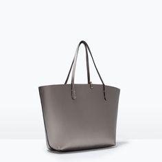 Image 2 of REVERSIBLE METALLIC SHOPPER BAG from Zara
