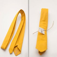 Skinny Handmade Wool Felt Necktie. $32