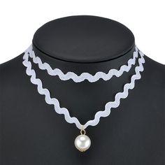 Vintage Gothic Black Velvet Ribbon Chain Choker Statement Bib Crystal Necklace…
