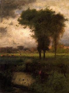 """windypoplarsroom:  George Inness  """"Woodland Scene"""""""