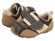 pediped Adrian Flex (Toddler/Little Kid) (Chocolate Brown/Tan) Boys Shoes
