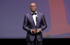 Samuel L. Jackson wearing Burberry tailoring to the Opening Night Gala of the 13th Annual Dubai International Film Festival.