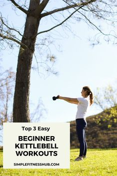 Before you get started on your first kettlebell workout, take a few minutes to prepare and learn various tips on how to get started in this kettlebell workout guide fr beginners. #simplefitnesshub #kettlebell #workout #beginners