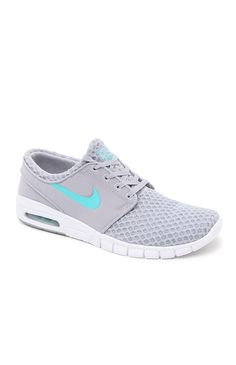 8753c9d64fb0ea Hooked on Stefan Janoski Max Gray   Turquoise Shoes that I found on the  PacSun App