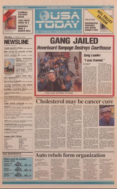 """""""Full front page of October 2015 USA Today from """"Back to the Future II"""" that had Cubs winning World Series"""" Back To The Future Party, The Future Movie, Sci Fi Movies, Good Movies, Usa Today, Cave Man, Dibujos Toy Story, Sean Leonard, Science Fiction"""
