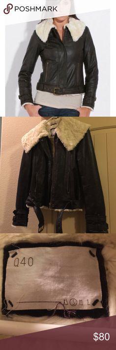Q40 Leather Bomber Jacket Genuine leather, Sherpa lined bomber jacket!! Extremely warm and soft!! Q40 Jackets & Coats