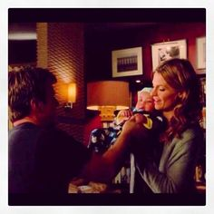 Caskett❤️ with baby! -The goood the bad and the baby. Castle Season 6, Life Happens, Shit Happens, Richard Castle, Castle Tv Shows, Castle Beckett, Castle Wall, I Need To Know, Perfect Couple